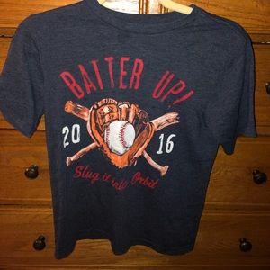 Baseball graphic T shirt. Size 10/12